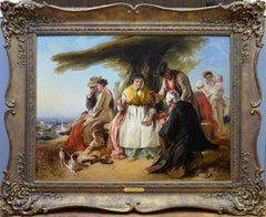 Youth & Age - Large 19th Century Oil Painting - Royal Academy 1851 - Victorian