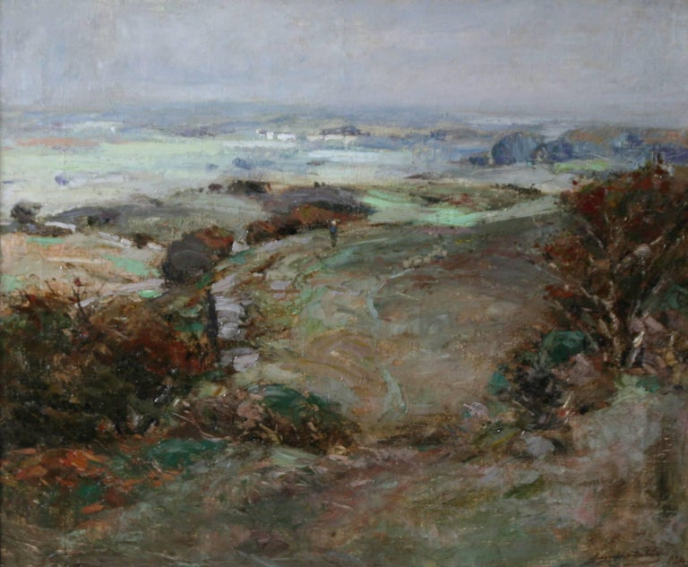 Scottish Galloway Landscape - British Victorian art Impressionist oil painting  - Painting by John Campbell Mitchell