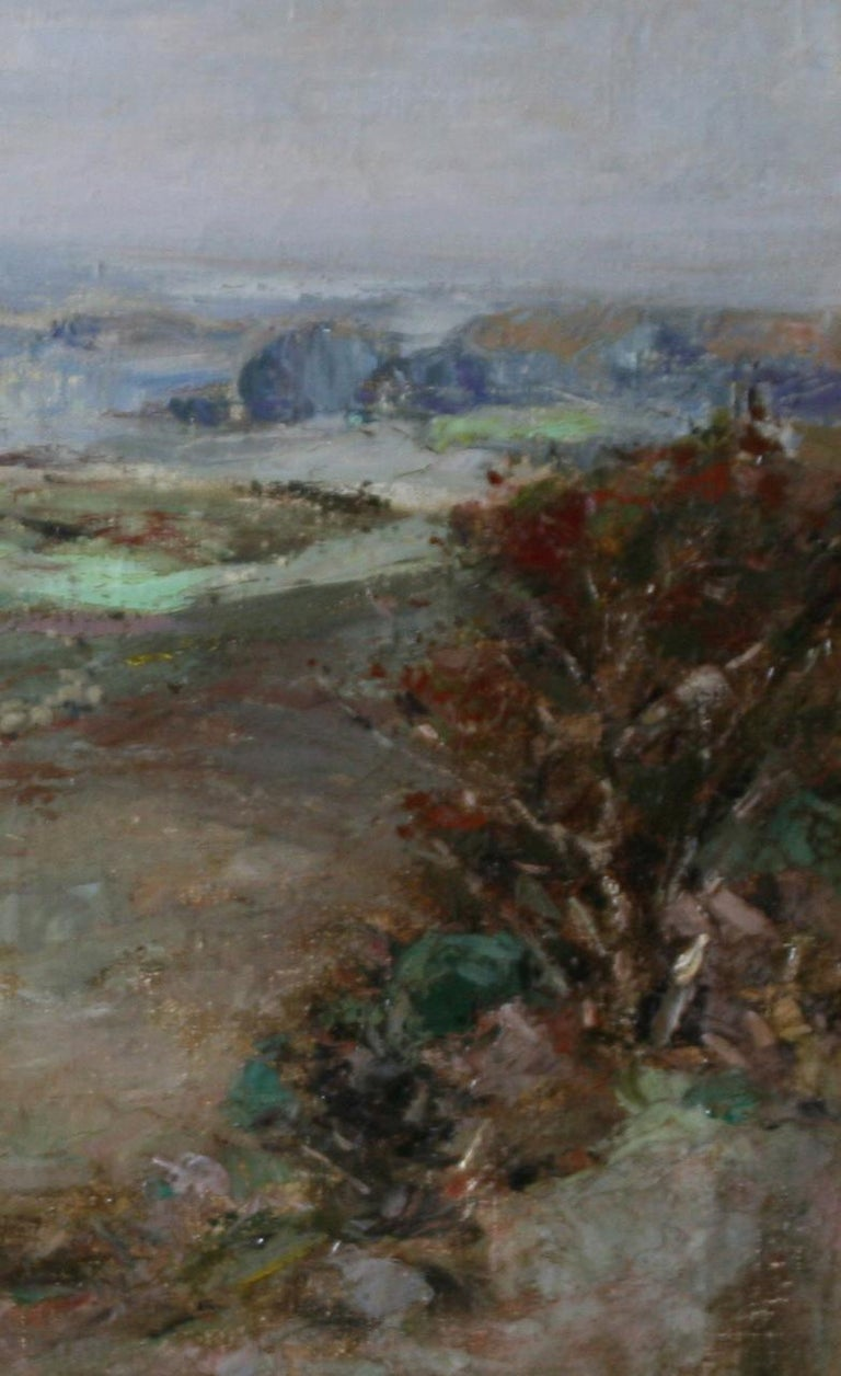 A stunning early 20th century Scottish Impressionist landscape oil on canvas by Scottish listed artist John Campbell Mitchell RSA.  He is a well listed Scottish artist who exhibited in galleries and major Scottish and British art institutions. He