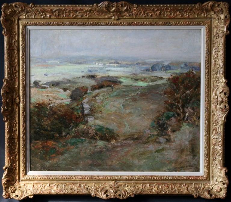 John Campbell Mitchell Landscape Painting - Scottish Galloway Landscape - British Victorian art Impressionist oil painting