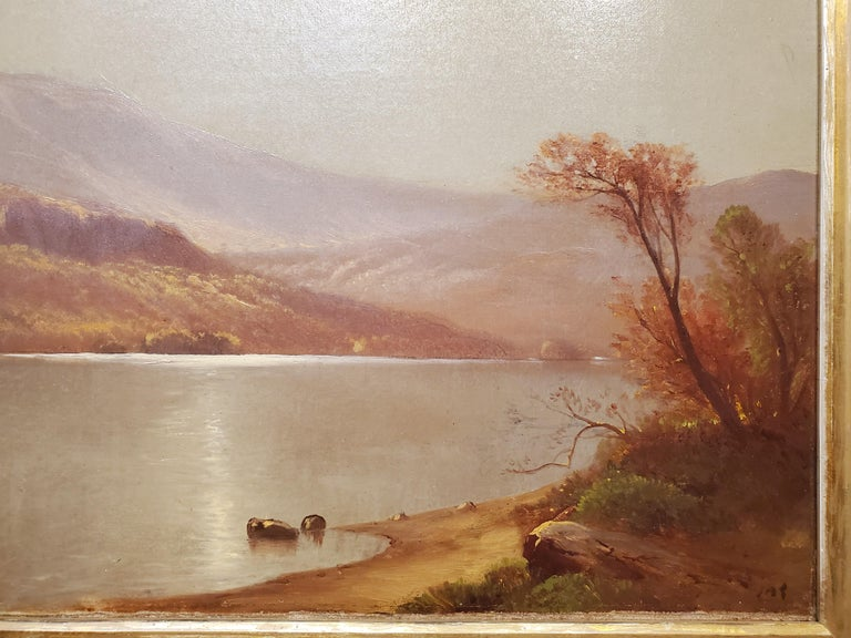 Luminist Landscape Oil Painting signed by John Carleton Wiggins For Sale 2
