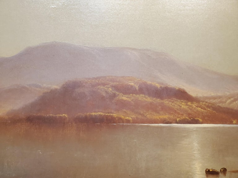 Luminist Landscape Oil Painting signed by John Carleton Wiggins For Sale 3