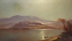 Luminist Landscape Oil Painting signed by John Carleton Wiggins