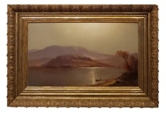 Luminist Landscape Oil Painting signed by John Carleton Wiggins