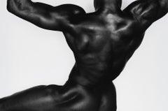 Untitled 20259 - silver gelatin print - male bodybuilder figure