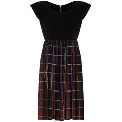 John Cavanagh 1960s Velvet Tartan Party Dress