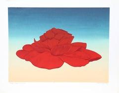 Poppy Begonia Flower, Serigraph by John Cedarstrom
