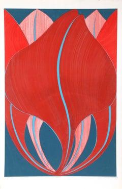 Wood Lily, Serigraph by John Cedarstrom
