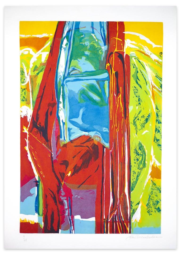 John Chamberlain Abstract Print - 3 Daughters, More Rain - Original Etching - 1987