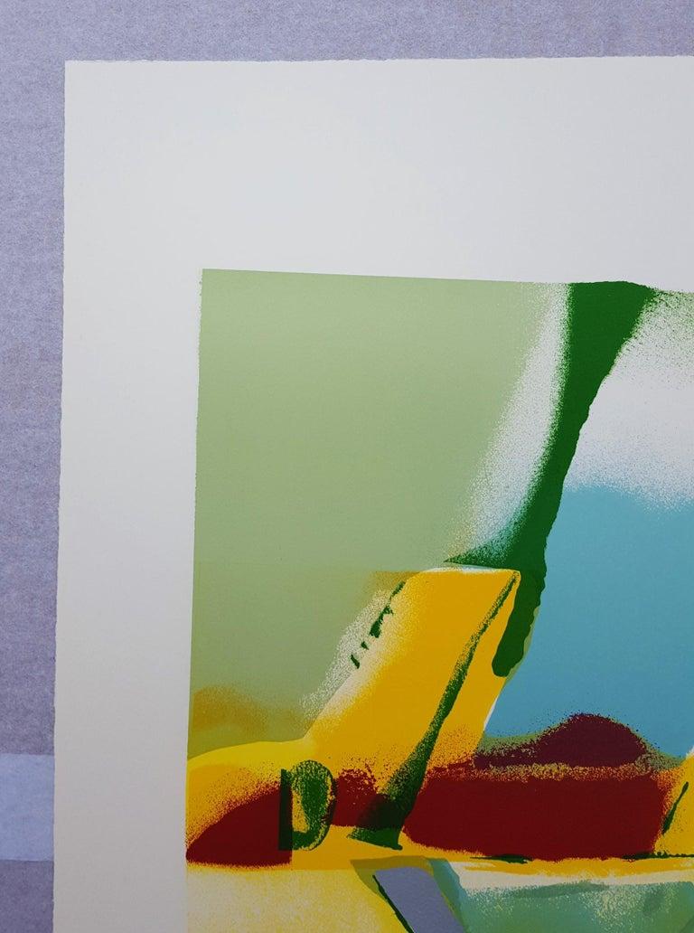 Flashback I - Brown Abstract Print by John Chamberlain
