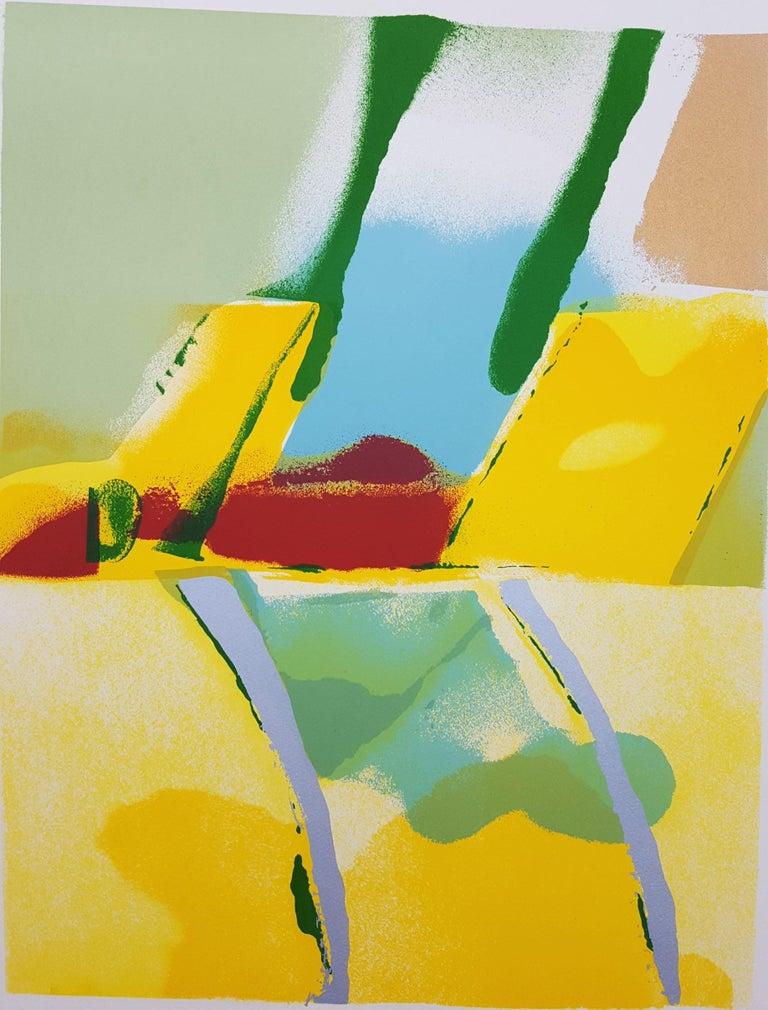 John Chamberlain Abstract Print - Flashback I