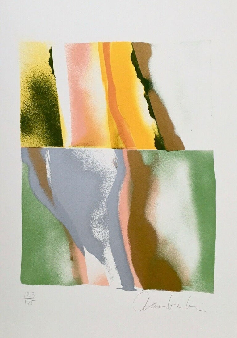 Flashback III, IV, V, VI (four artworks) - Abstract Expressionist Print by John Chamberlain
