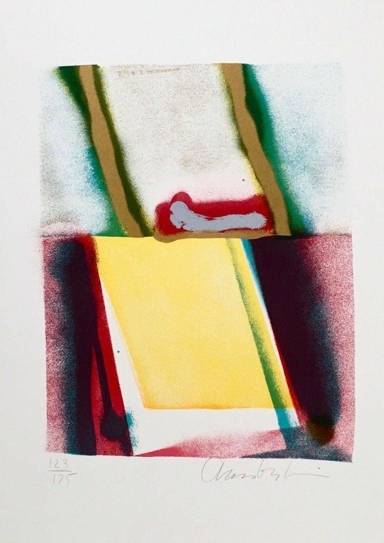 Flashback III, IV, V, VI (four artworks) - Beige Abstract Print by John Chamberlain