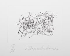 I from the Ten Coconut Portflio, Minimalist Abstract Etching by John Chamberlain
