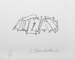 IV from the Ten Coconut Portfolio, Minimalist Etching by John Chamberlain