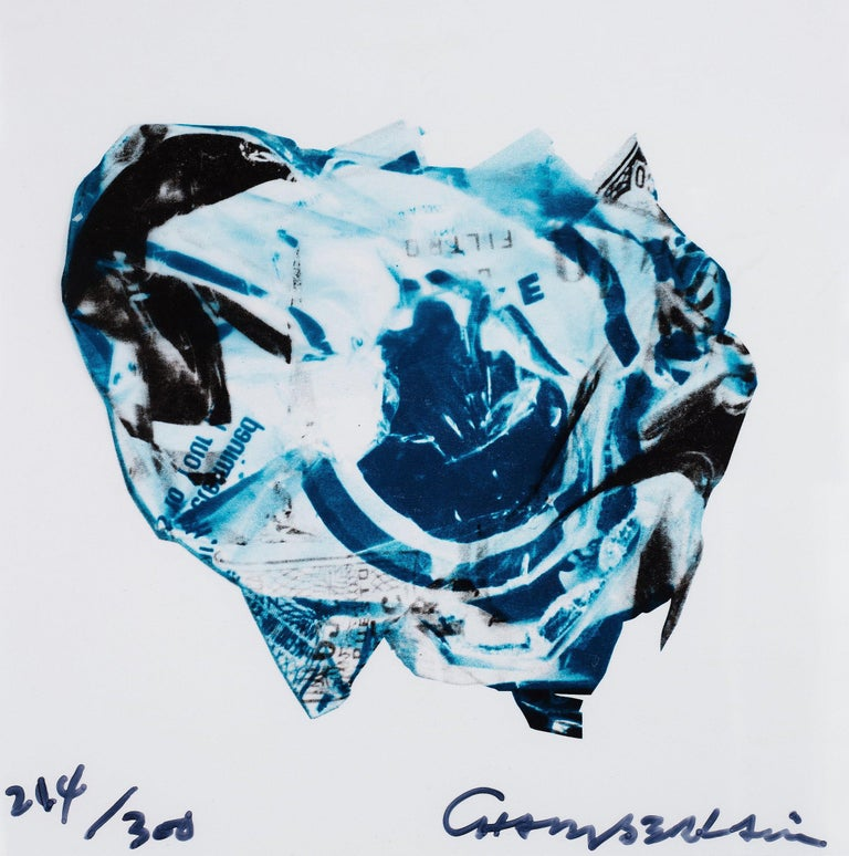 JOHN CHAMBERLAIN Untitled, 1973  Lithograph, on acetate Signed and numbered from the edition of 300 From The New York Collection for Stockholm Printed by Styria Studio Inc., New York Published by Experiments in Art and Technology, Inc., New York