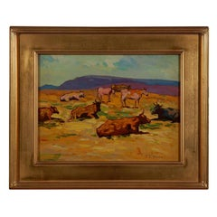John Christopher Smith oil painting on board landscape