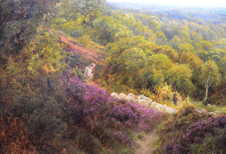Summer in the Surrey Hills - Very Large 19th Century Landscape Oil Painting For Sale 2