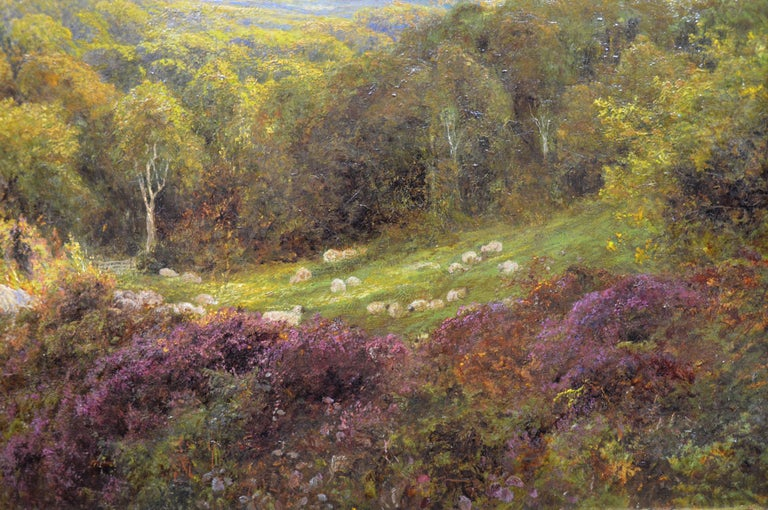 Summer in the Surrey Hills - Very Large 19th Century Landscape Oil Painting For Sale 3