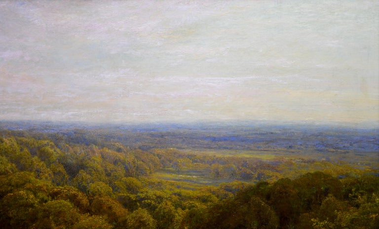 Summer in the Surrey Hills - Very Large 19th Century Landscape Oil Painting For Sale 4