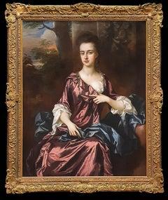 Portrait of an Elegant Lady c.1690's, Oil on Canvas Painting, John Closterman