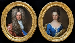 Two (a pair) Portrait of Gentleman, Portrait of Lady, 17th century, Oil Painting