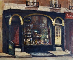 London Shop Front - 20th Century British painting by John Cole