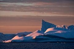 Antarctica 66, Iceberg, Photograph, Blue, Pink, unframed, home office, Travel