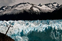 Patagonia #103, Iceberg, Limited Edition Photograph, Blue, Black, Antarctica