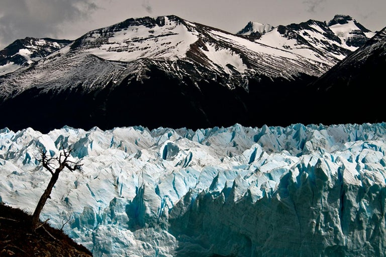 John Conn Landscape Photograph - Patagonia #103, Iceberg, Limited Edition Photograph, Blue, Black, Antarctica