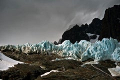 Patagonia #32, Iceberg, Photograph, Blue, Black, unframed, home office, mancave