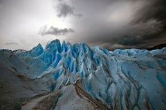 Patagonia #51, Iceberg, Limited Edition Photograph, Blue, Black, unframed
