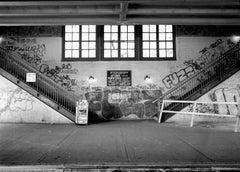 Subway 27, Black & White Photograph, NYC, 1980s, Limited Edition, Subway Station
