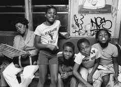 Subway 30, YMCA Kids, 1980s, NYC, Black & White Photograph, Subway, Limited Ed.
