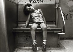 Subway 36, Black & White, Limited Edition Photograph, NYC, 1981, Unframed, Kid