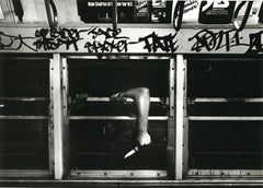 Subway 37, Black & White, Limited Edition Photograph, NYC, 1981, Unframed, Knife