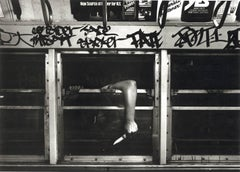 Subway 37, graffiti, black and white photograph, NYC, 1980s, 1970s, edgy