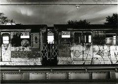 Subway 43 Small, Black & White, Photograph, NYC, 1970s, Subway, Graffiti,