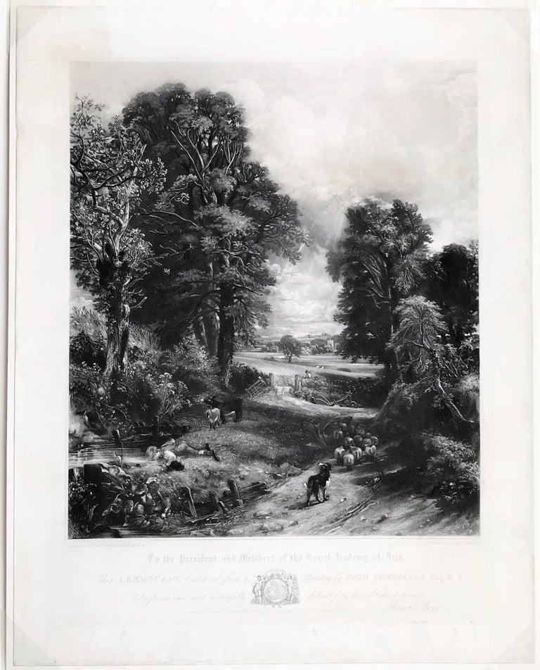 The Cornfield  - Romantic Print by John Constable