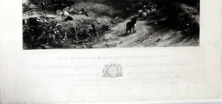 The Cornfield  - Gray Landscape Print by John Constable