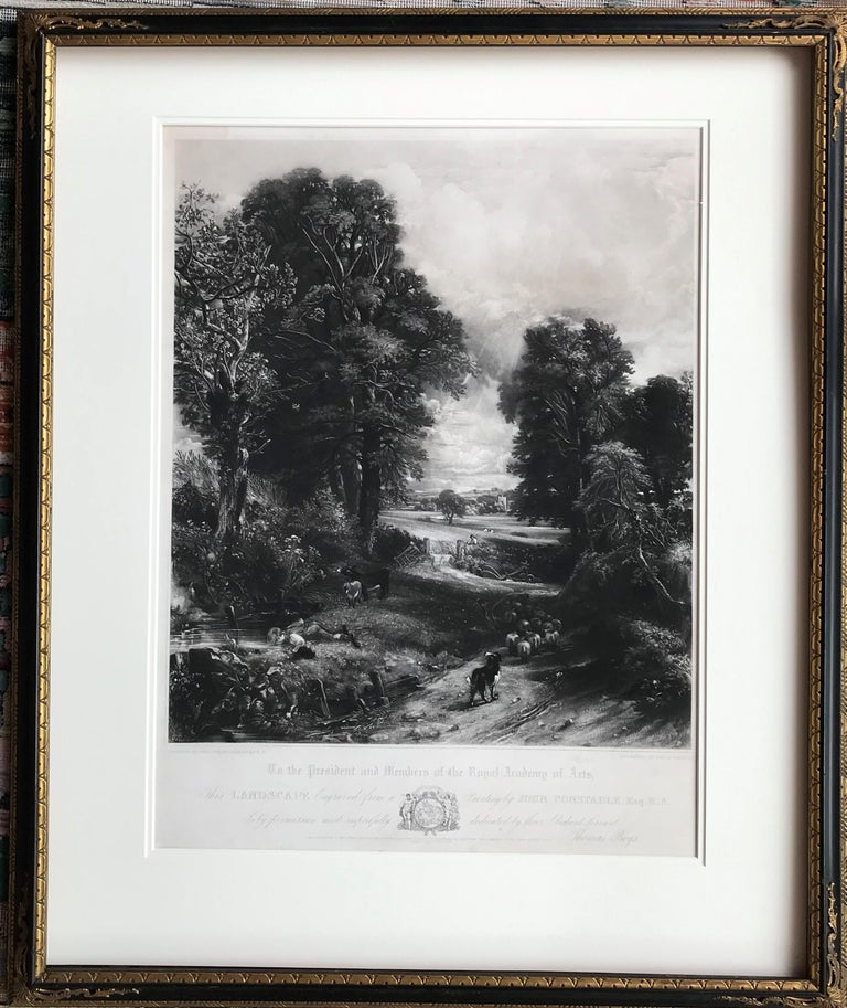 Mezzotint by David Lucas (1802 - 1881) after the painting by John Constable. Shirley catalog 3 state 6.iv. Christopher Lennox-Boyd state vi/vi. London: Republished Feb.y 15, 1853, by Thomas Boys (of the late Firm of Moon, Boyd & Greaves,)