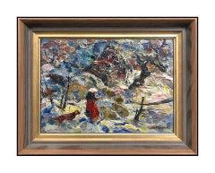 John Costigan Original Oil Painting on Board Signed Landscape Framed Artwork SBO
