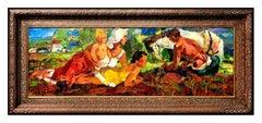 John Costigan Original Oil Painting on Board Signed Portrait Landscape Art Rare