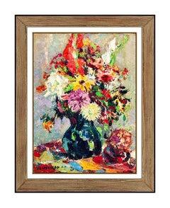 John Costigan Original Oil Painting on Board Signed Still Life Floral Framed Art