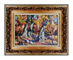 John Costigan Original Oil Painting on Canvas Board Signed Landscape Framed Art