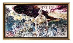 John Costigan RARE Original Acrylic Painting Signed Illustration Framed Artwork