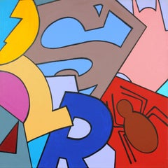 #2 gallery-wrapped acrylic on canvas painting by street artist John CRASH Matos