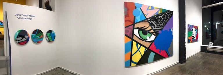 Untitled 6, John CRASH Matos, Spray Paint, Graffiti/Street Art (Figurative) - Painting by John Crash Matos