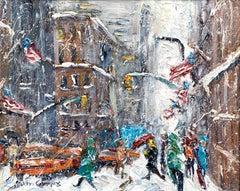 """Fifth Avenue Snowfall"""