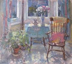 February Sunlight - Original Contemporary pastel still life painting modern art